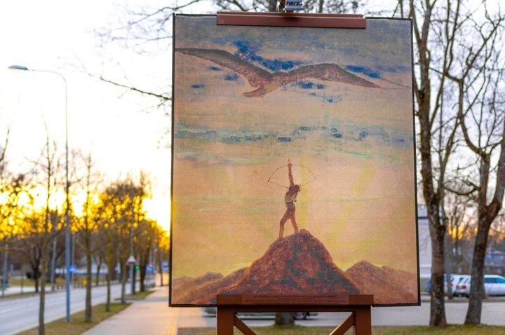 Gemälde von Čiurlionis: Zeichen des Schützen und  der Jungfrau